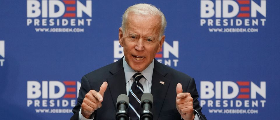 Democratic 2020 U.S. presidential candidate and former Vice President Joe Biden speaks at The Graduate Center of CUNY in the Manhattan borough of New York