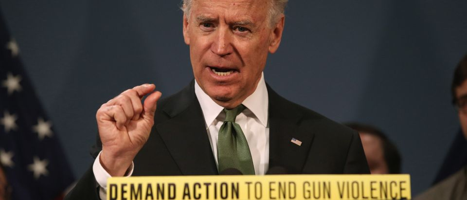 Biden, Bloomberg And Newtown Families Hold News Conf. On Federal Gun Laws