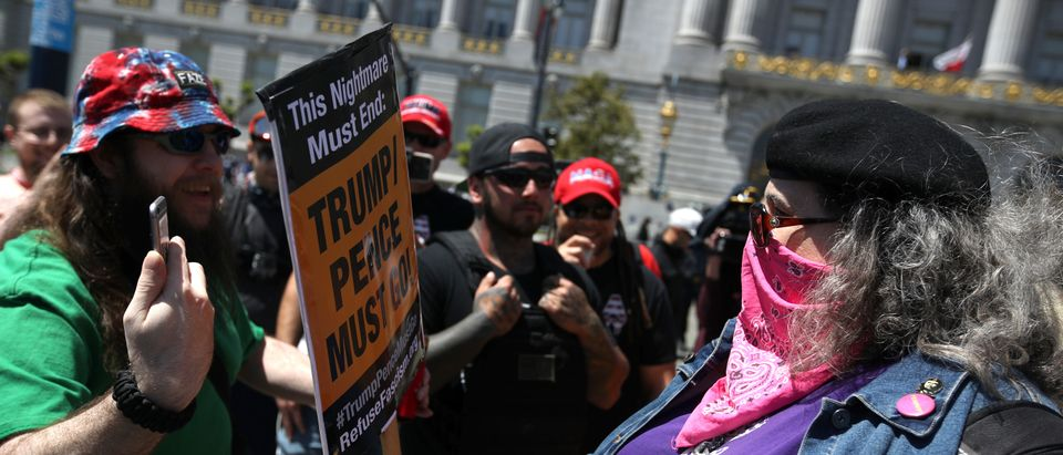 Far Right Activists Attend Free Speech Rally At San Francisco City Hall