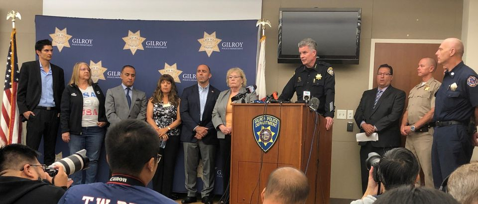 Gilroy Police Chief Scot Smithee speaks at a news conference, the day after a mass shooting at the Gilroy Garlic festival, at a police station in Gilroy, California, U.S. July 29, 2019. REUTERS/Alexandria Sage