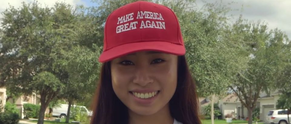 Trump supporter Kathy Zhu said Miss World America stripped her Miss Michigan title in July 2019 after citing social media content in violation of character requirements. YouTube screenshot/FUSION