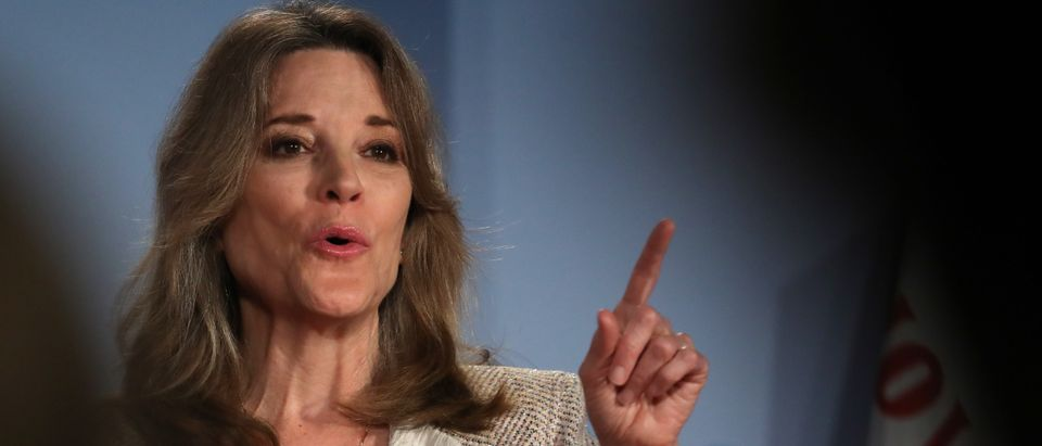 Democratic presidential hopeful self-help author Marianne Williamson (Justin Sullivan/Getty Images)