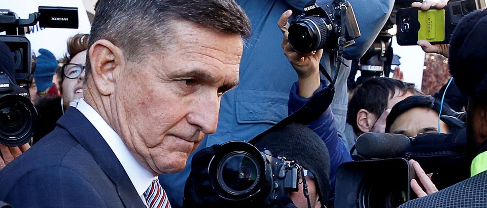 Former U.S. national security adviser Flynn departs after sentencing hearing at U.S. District Court in Washington