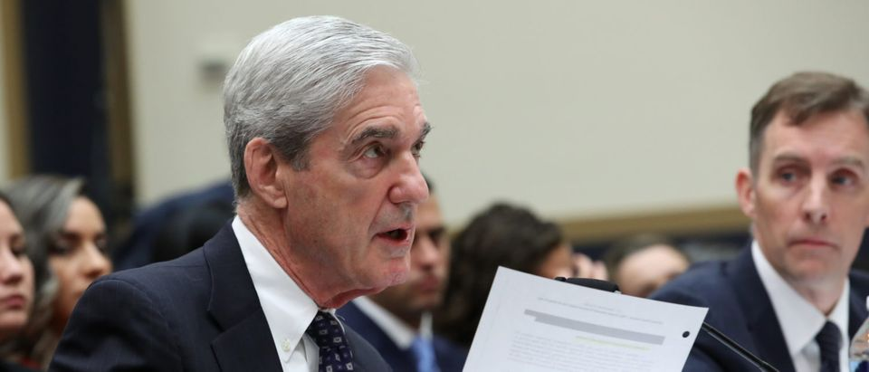 Former Special Counsel Robert Mueller testifies before the House Judiciary Committee about his report on Russian interference in the 2016 presidential election in the Rayburn House Office Building July 24, 2019 in Washington, DC. (Photo by Win McNamee/Getty Images)