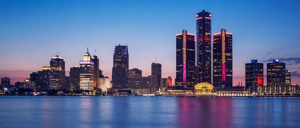 Detroit, Michigan skyline, shutterstock