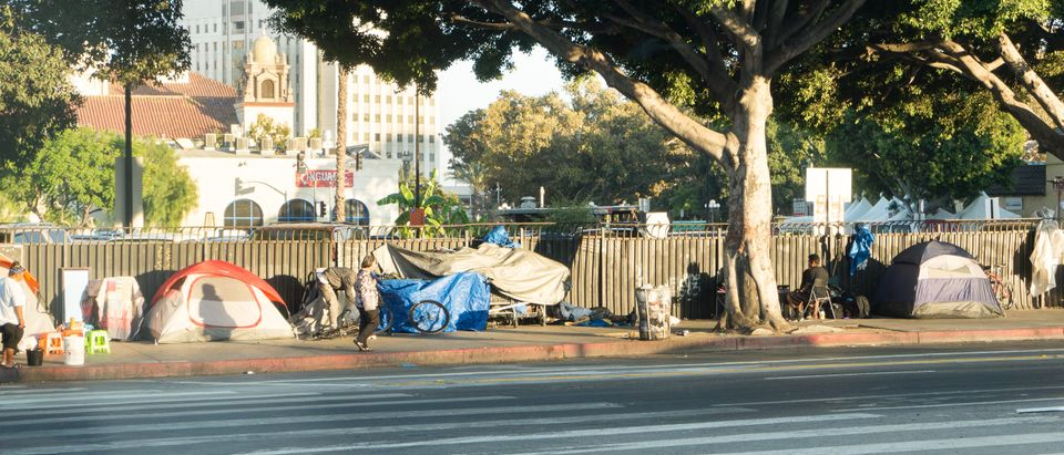 Homeless camps are becoming increasingly common in major cities. (SHUTTERSTOCK/Tero Vesalainen)