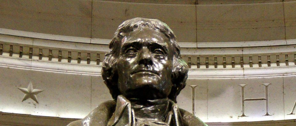 A statue of Thomas Jefferson is seen at the Jefferson Memorial in Washington, D.C. Shutterstock via LO Kin-hei
