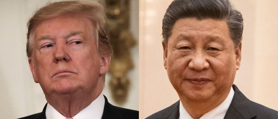 President Donald Trump took aim at China's designation as a developing country under World Trade Organization rules on July 26, 2019. Fred Dufour - Pool/Getty Images and Lars Niki/Getty Images for The Athena Film Festival