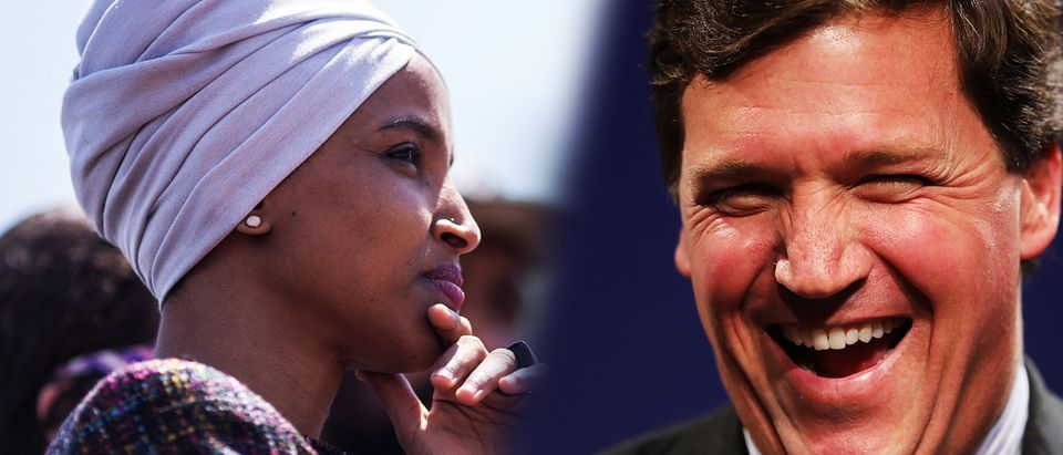 Ilhan Omar, Tucker Carlson (Getty Images, Daily Caller)