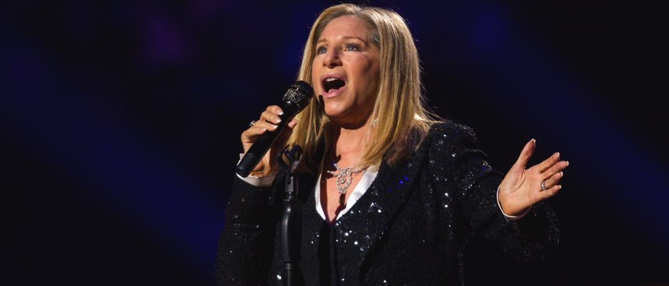 Singer Barbra Streisand performs at Barclays Center in the Brooklyn borough of New York