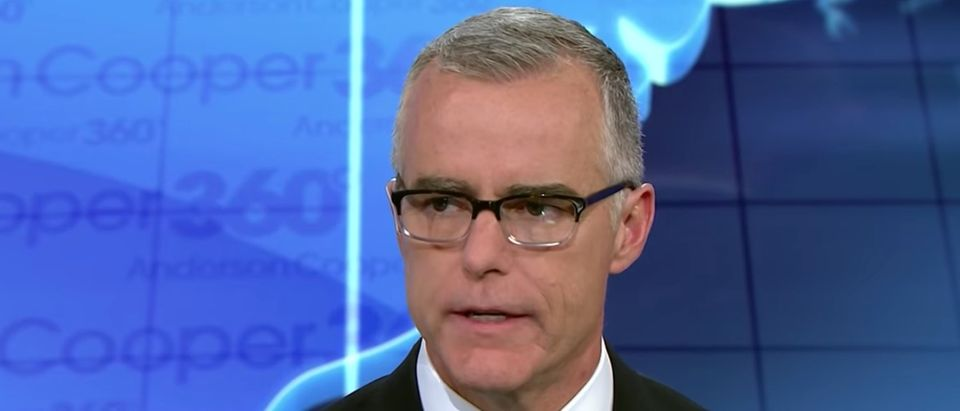 Former FBI Deputy Director Andrew McCabe, Feb. 19, 2019. (Youtube screen grab/CNN)