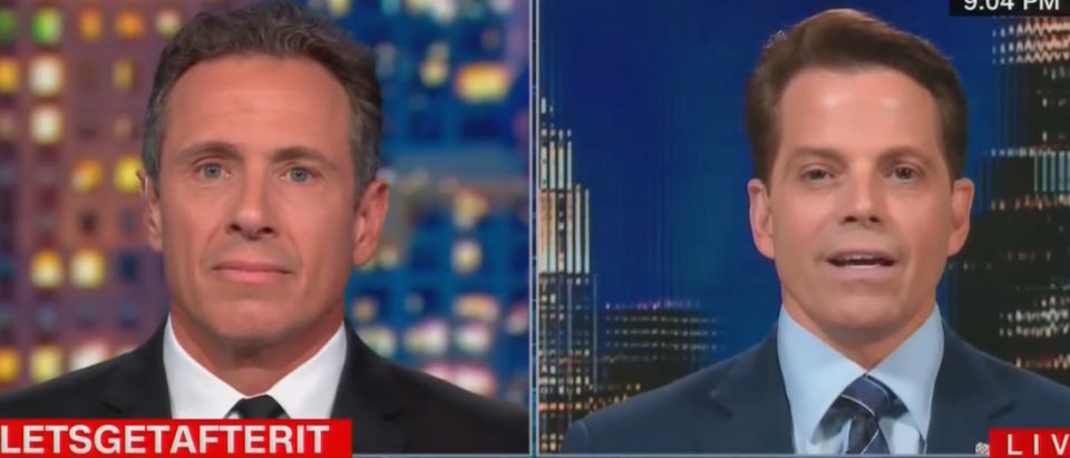 Chris Cuomo Anthony Scaramucci interview (CNN screengrab)