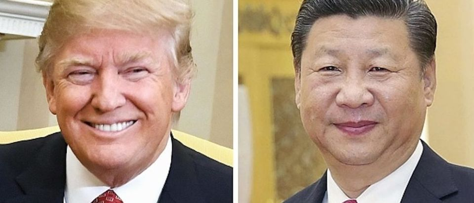 Combined file photo shows U.S. President Donald Trump (L) and Chinese President Xi Jinping. Xi told Trump in phone talks on Jan. 16, 2018