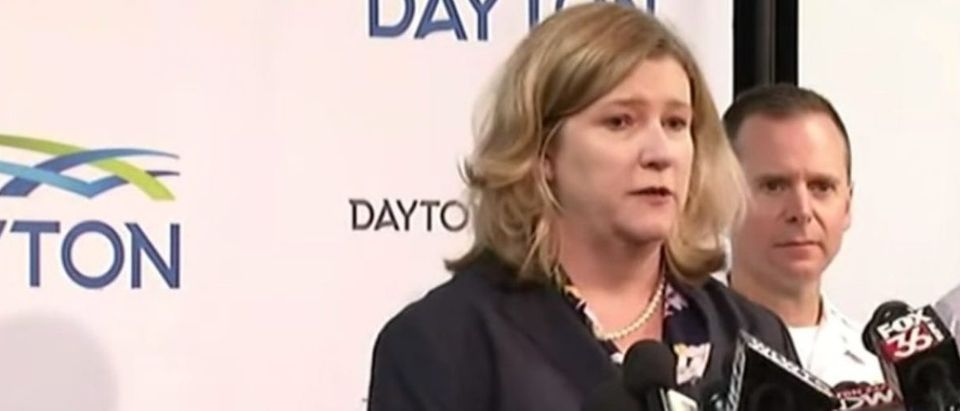 Dayton Mayor Nan Whaley speaks at press conference, Aug. 4, 2019. (Youtube screen capture/ABC News)