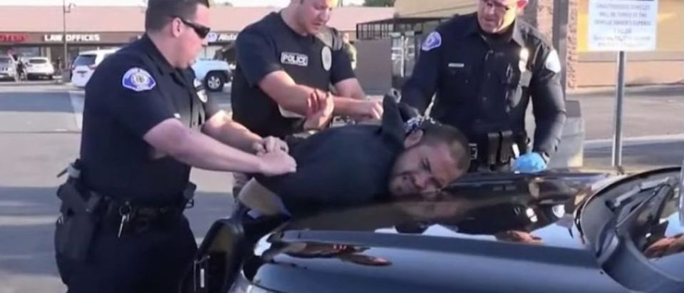 Stabbing spree suspect arrested in Garden Grove, Calif., Aug. 7, 2019. (YouTube screen grab/CBS Los Angeles)