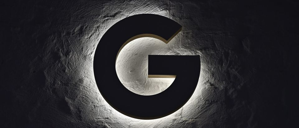 "An illuminated ""G"" hangs on the wall during the opening day of a new Berlin office of US internet search giant Google in Berlin on Jan. 22, 2019. (Photo: TOBIAS SCHWARZ/AFP/Getty Images)"