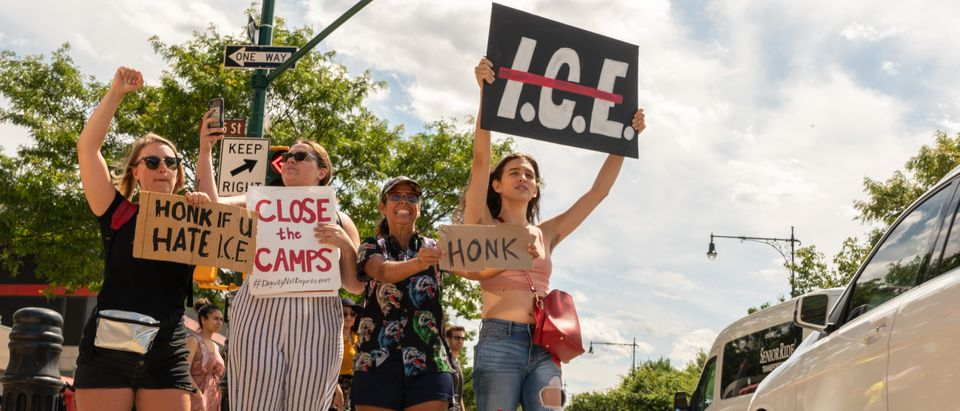 ICE Protest Shuts Down The West Side Highway In Manhattan