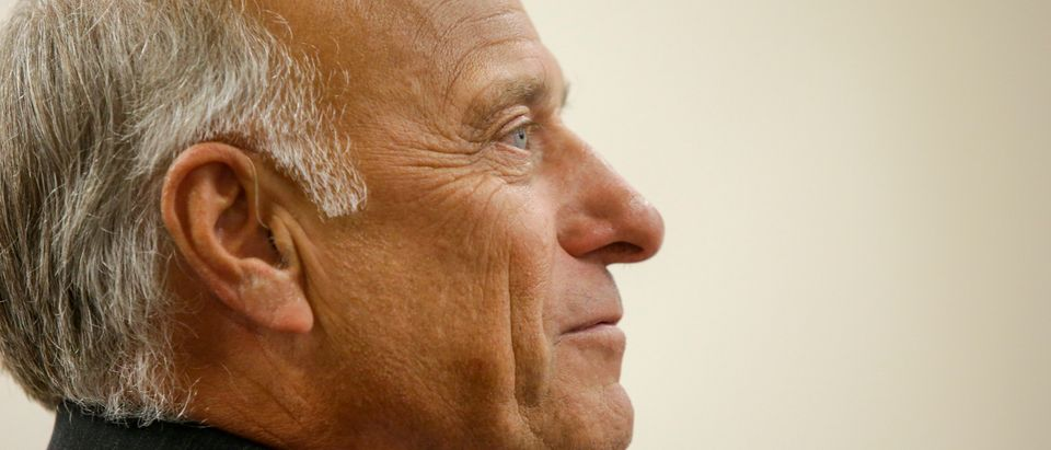 BOONE, IA - AUGUST 13: U.S. Rep. Steve King (R-IA) speaks during a town hall meeting at the Ericson Public Library on August 13, 2019 in Boone, Iowa. Steve King, who was stripped of House committee assignments earlier this year after making racist comments spoke about immigration and the U.S. and Mexico border. (Photo by Joshua Lott/Getty Images)
