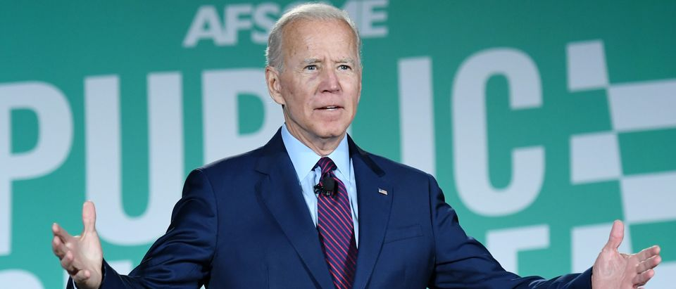 Democratic presidential candidate and former U.S. Vice President Joe Biden speaks during the 2020 Public Service Forum hosted by the American Federation of State, County and Municipal Employees (AFSCME) at UNLV on August 3, 2019 in Las Vegas, Nevada. (Ethan Miller/Getty Images)