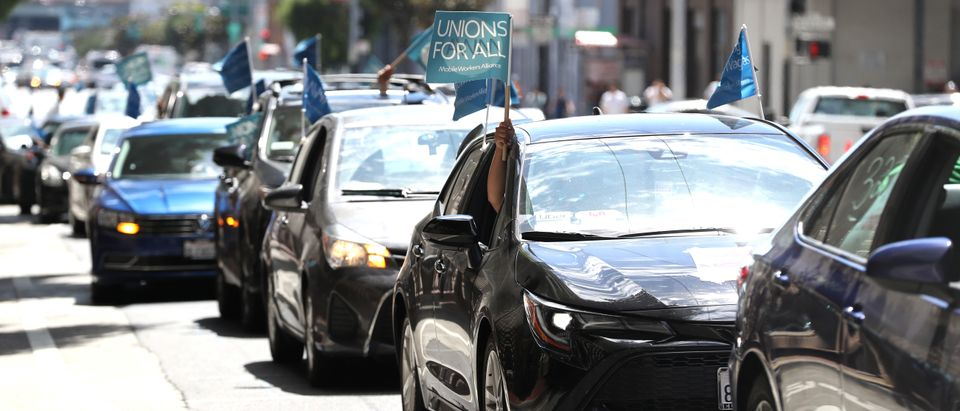Rideshare Drivers, Activists Rally At Uber HQ In Support Of CA Assembly Bill 5