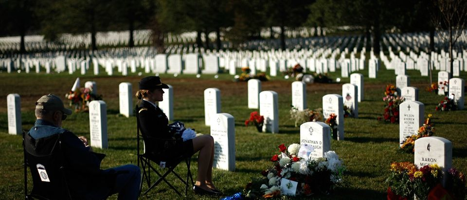 Mourners Gather At Arlington Cemetery For Veterans Day
