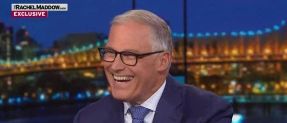 Washington Gov. Jay Inslee is pictured. (YouTube screen grab/MSNBC)