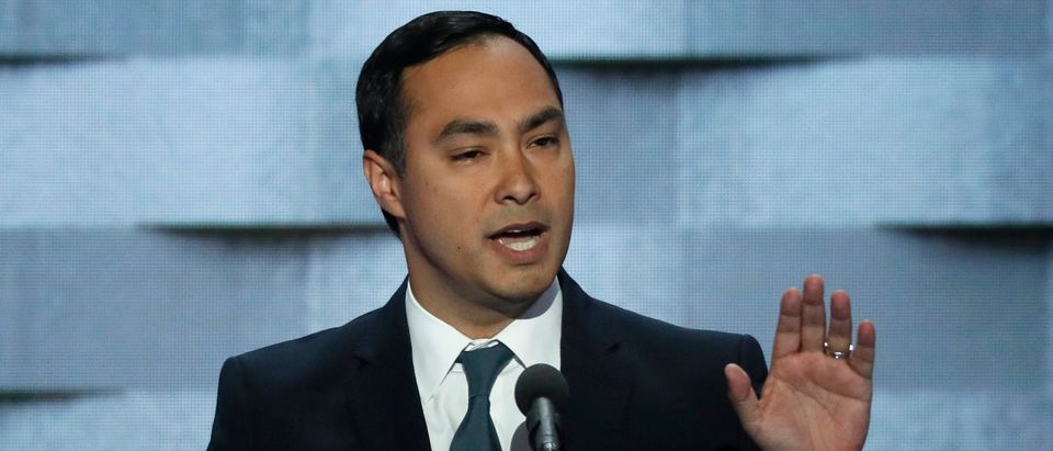 U.S. Rep. Joaquin Castro speaks during the final night of the Democratic National Convention in Philadelphia, Pennsylvania, U.S. July 28, 2016. REUTERS/Mike Segar