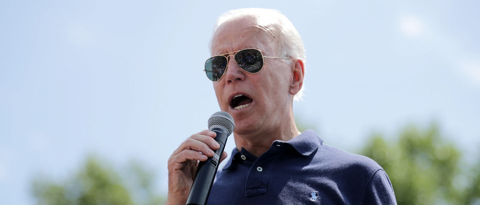 Former Vice President Joe Biden delivers a campaign speech at the Iowa State Fair on August 08, 2019. (Chip Somodevilla/Getty Images)