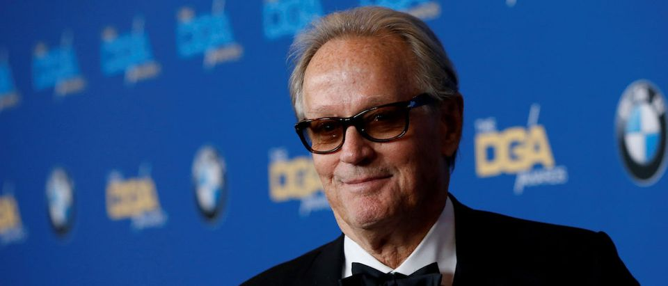 Actor Peter Fonda poses at the 70th Annual DGA Awards in Beverly Hills, California, U.S., February 3, 2018. REUTERS/Mario Anzuoni/File Photo