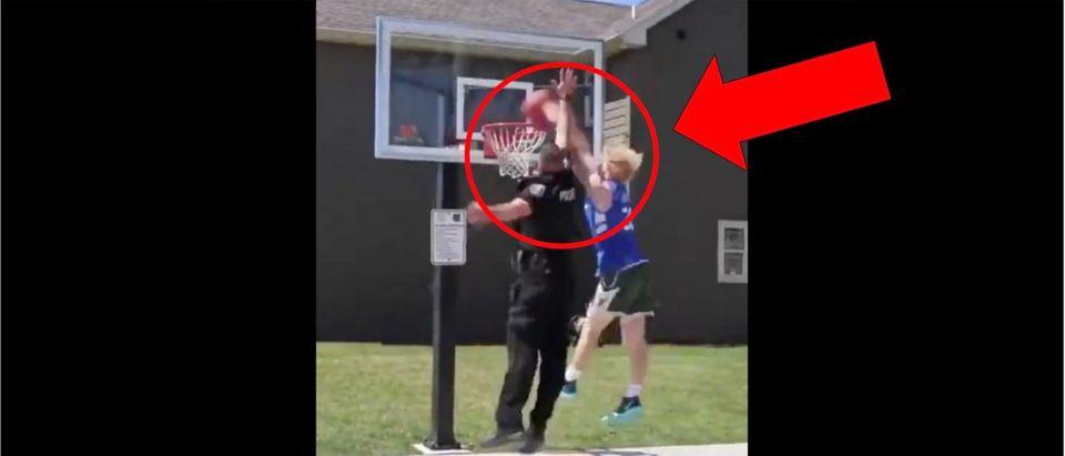 Police Dunk Video (Credit: Screenshot/Twitter Video https://twitter.com/sportscenter/status/1160583157344870401?s=21)