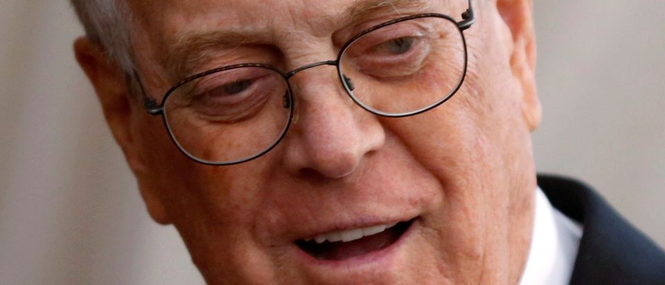 "FILE PHOTO: Businessman David Koch arrives at the Metropolitan Museum of Art Costume Institute Gala 2015 celebrating the opening of ""China: Through the Looking Glass,"" in Manhattan"