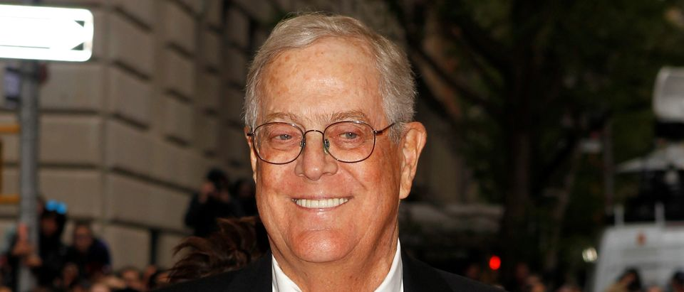 "Businessman David Koch arrives at the Metropolitan Museum of Art Costume Institute Gala Benefit celebrating the opening of ""Charles James: Beyond Fashion"" in Upper Manhattan, New York May 5, 2014. (REUTERS/Carlo Allegri/File Photo)"