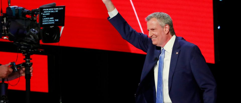 New York City Mayor Bill de Blasio takes the stage on the second night of the second 2020 Democratic U.S. presidential debate in Detroit, Michigan, July 31, 2019. (Photo: REUTERS/Lucas Jackson)