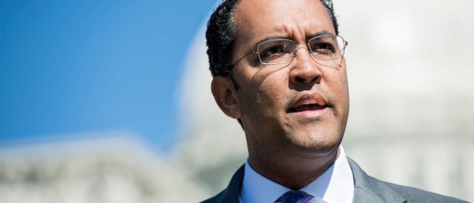 Rep. Will Hurd, R-Texas, speaks during a news conference on the use of the queen-of-the-hill rule for DACA legislation in the House on Wednesday, April 18, 2018
