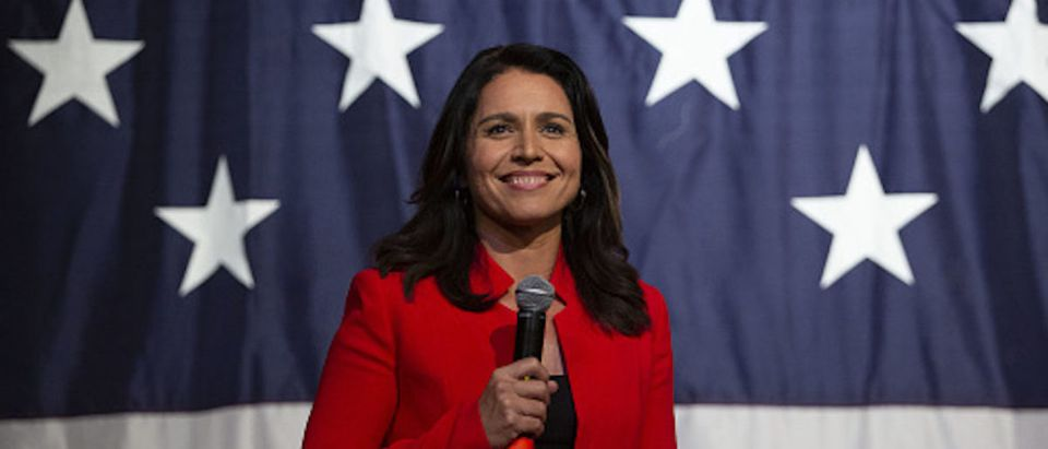 Representative Tulsi Gabbard, a Democrat from Hawaii and 2020 presidential candidate, speaks during the Democratic Wing Ding event in Clear Lake, Iowa, U.S., on Friday, Aug. 9, 2019