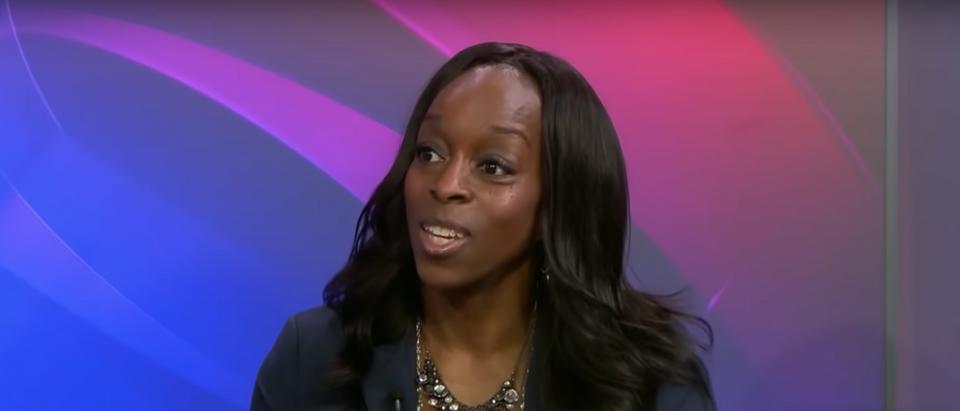 Carmen Twillie Ambar, President of Oberlin College (CBS News/Youtube)