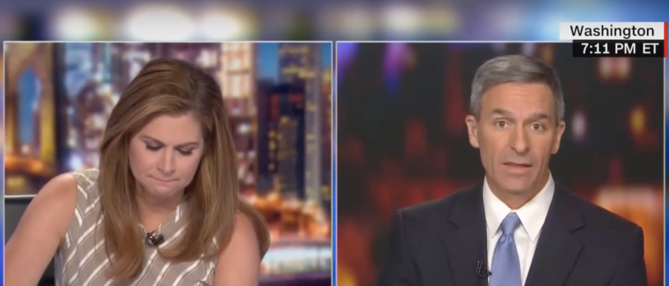 CNN's Erin Burnett and Cuccinelli on Statue of Liberty poem. (Screenshot CNN/Erin Burnett OutFront)