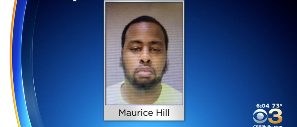36-year-old Maurice Hill is pictured. CBS Philly screengrab