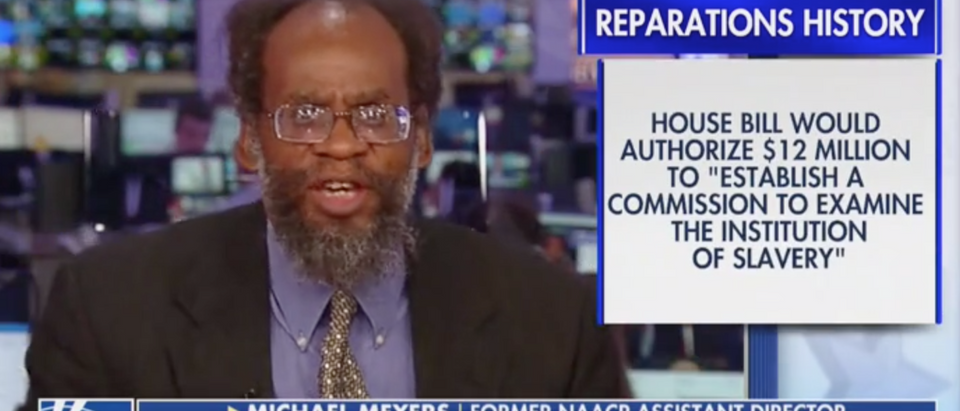 Former NAACP assistant director Michael Meyers appears on Fox News. Screen Shot/Fox News