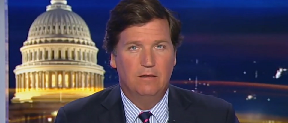 Tucker Carlson fires back at left (Fox News screengrab)