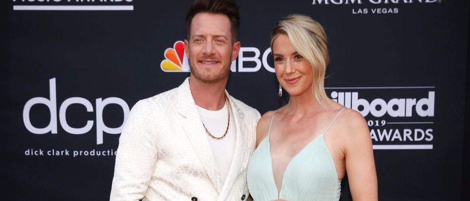 2019 Billboard Music Awards- Arrivals - Las Vegas, Nevada, U.S., May 1, 2019 - Tyler Hubbard and Hayley Stommel. REUTERS/Steve Marcus
