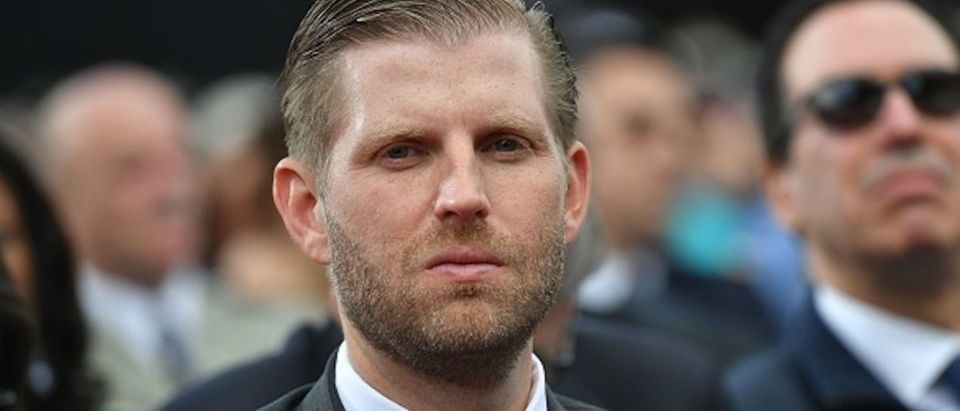 US businessman and son of the US president Eric Trump attends a French-US ceremony at the Normandy American Cemetery and Memorial in Colleville-sur-Mer, Normandy, northwestern France, on June 6, 2019