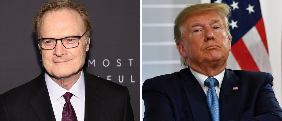 Trump Criticizes 'Crazy Lawrence O'Donnell' For 'Totally Inaccurate Reporting'/ Getty Images Collage