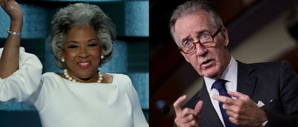 Justice Democrats endorsed two challengers to Massachusetts Rep. Richard Neal and Ohio Rep. Joyce Beatty on Aug. 7, 2019. Alex Wong/Getty Images and Drew Angerer/Getty Images