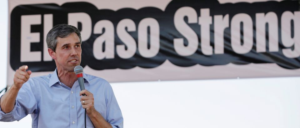 Democratic presidential candidate Beto O'Rourke speaks during a rally against the visit of the U.S. President Donald Trump after last weekend's shooting at a Walmart store, in El Paso, Texas, U.S., August 7, 2019. REUTERS/Jose Luis Gonzalez