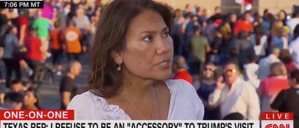 "Rep. Veronica Escobar appears on ""Cuomo Prime Time."" Screen Shot/CNN"