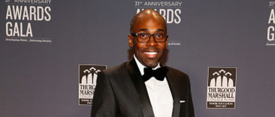 WASHINGTON, DC - OCTOBER 29: Paris Dennard, TMCF Senior Director of Strategic Communication, arrives at the Thurgood Marshall College Fund 31st Anniversary Awards Gala on October 29, 2018 in Washington, DC. (Photo by Paul Morigi/Getty Images for Thurgood Marshall College Fund)