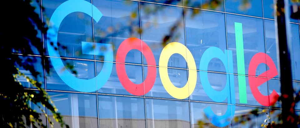 A Google logo is seen at the company's headquarters in Mountain View, California, U.S., November 1, 2018. REUTERS/ Stephen Lam