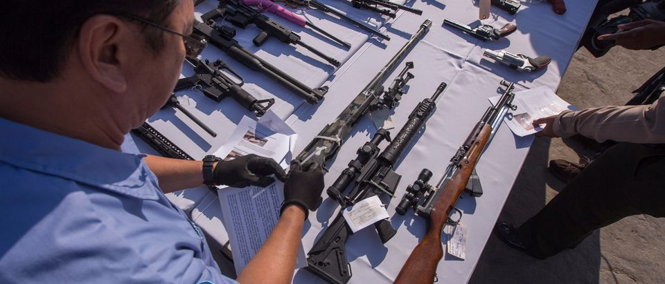 Thousands Of Seized Guns Are Melted At The Los Angeles County Sheriff's Office Annual Gun Melt