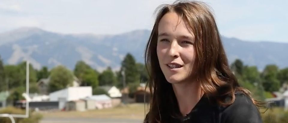 University of Montana cross country runner June Eastwood is pictured. [Screenshot/ABC FOX Montana]